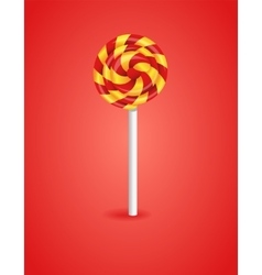 Red background with candy vector image
