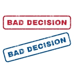 Bad decision rubber stamps vector