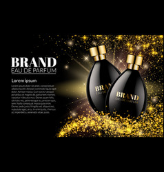 beautiful black bottle womens perfume products vector image