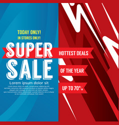 Super sale colorful promotional banner vector