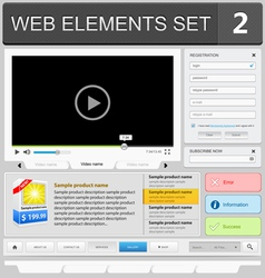web elements set 2 vector image