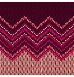 Knitted seamless fabric pattern beautiful red pink vector