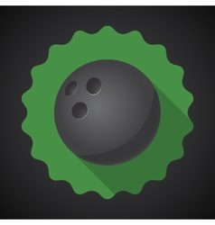 Sport ball bowling flat icon background vector