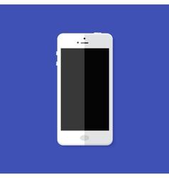 Modern white smartphone flat icon vector