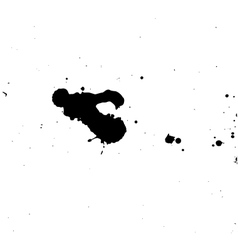 Black blobs with small and large drops vector