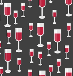 Seamless pattern with glasses of red wine vector