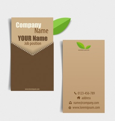 Modern business card template with nature vector