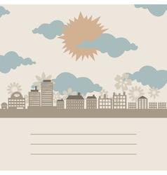 vintage city vector image