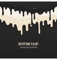 Dripping paint seamless border vector