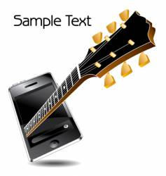 Guitar phone vector