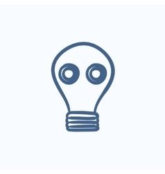 Gas mask sketch icon vector