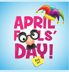 april fool s day typography vector image vector image