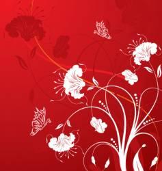 background-flower vector image