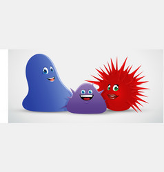 Blob spiky creatures vector