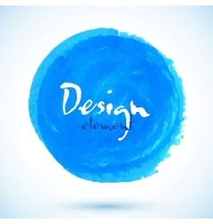 Bright blue watercolor circle vector