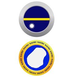 Button as a symbol nauru vector