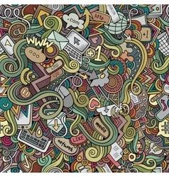 Cartoon doodles hand drawn internet social vector