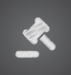 Court law sketch logo doodle icon vector