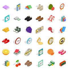 Delicacy icons set isometric style vector