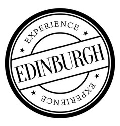 Edinburgh stamp typ vector