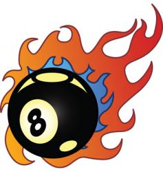 flaming balls vector image