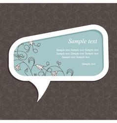 Floral speech bubble dark3 vector