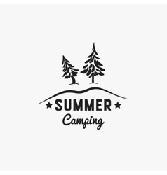 Forest summer camp badge vector
