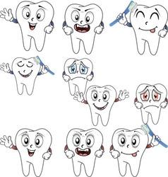 Happy teeth vector