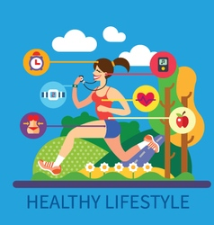 Healthy lifestyle and sport vector