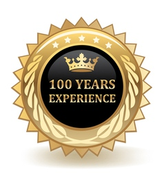 Hundred Years Experience Badge vector image