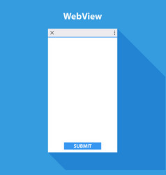mobile web view form for application vector image vector image