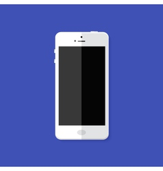 Modern white smartphone flat icon vector
