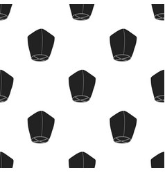 sky lantern icon in black style isolated on white vector image