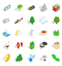 sweden business icons set isometric style vector image