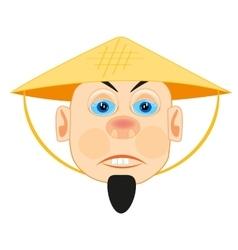 Vietnamese in straw hat vector