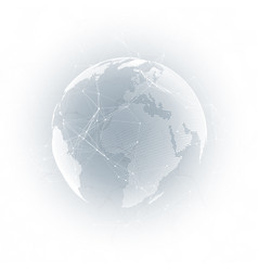 world globe on gray background global network vector image