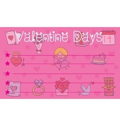 Valentine day collection for greeting card vector