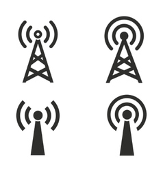 Communication tower icon set vector