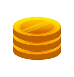 Game coins with wings vector