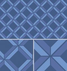 Blue Chevron vintage seamless pattern vector image