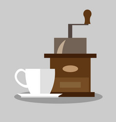 coffee mill icon vector image