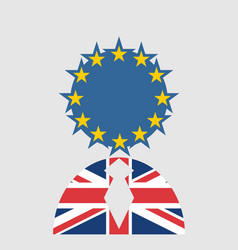 Britain and european union relationships brexit vector
