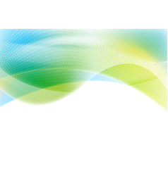 Blue and green abstract shiny waves background vector