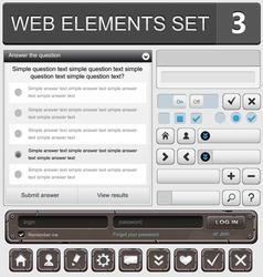 web elements set 3 vector image