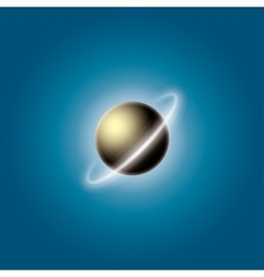 Planet with a ring vector