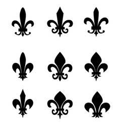 Collection of fleur de lis symbols vector