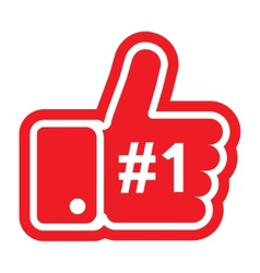 Thumb up sign vector