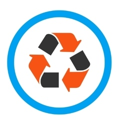 Recycle rounded icon vector