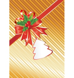 Christmas background with gift tag vector