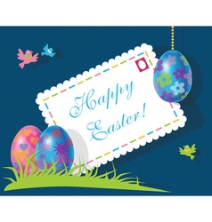 Envelope and eggs easter vector